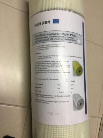 Glasfasergewebe von WDVS 165 g/m2