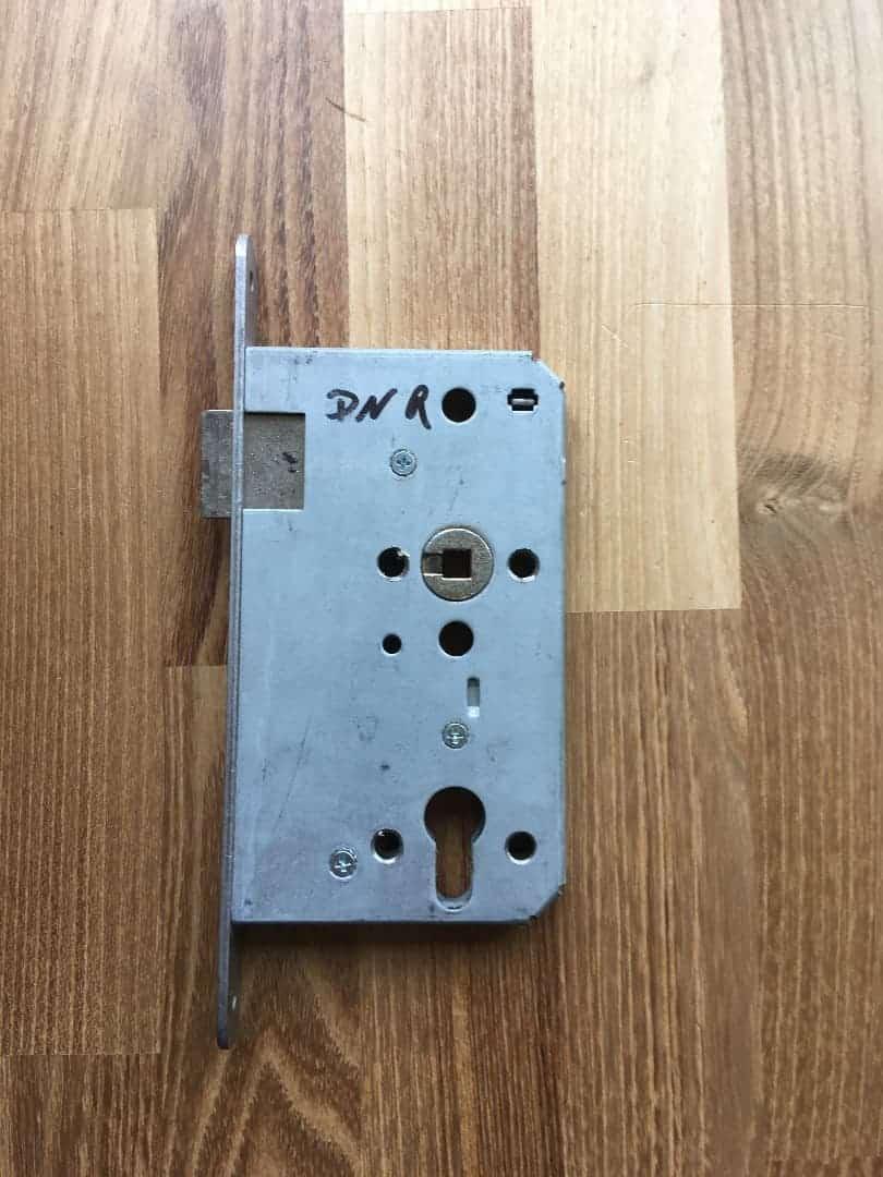 Einsteckschloss für Profilzylinder, DIN Rechts für Zimmertüre