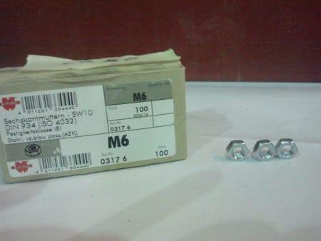 Sechskantnuttern M6 x 0,75, SW 10