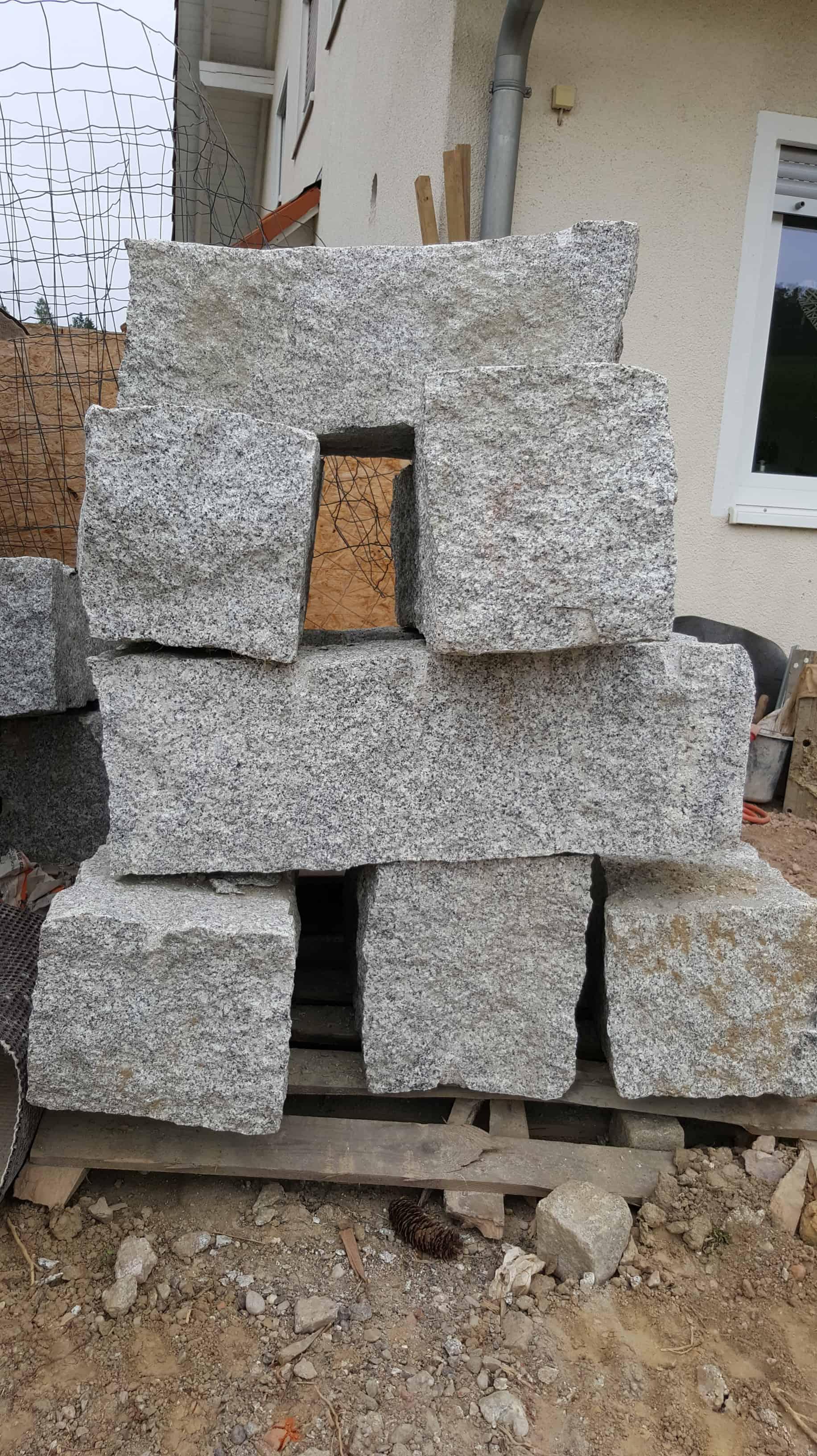 Granit Quader Steine 30x30cm in Längen 60-120cm