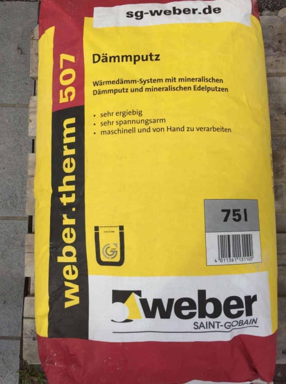 Wärmedämmputz Weber therm 507
