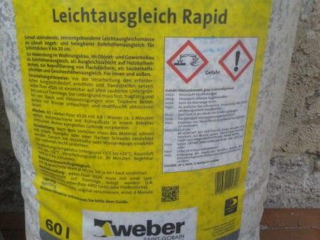 WEBER Leichtausgleichsmasse Rapid