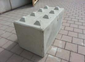 Beton-Schnellbausteine, Betonblocksteine, Betonblock mit Noppen – 1.200er