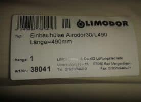 Limodor einbauhülse. 12 stück neu