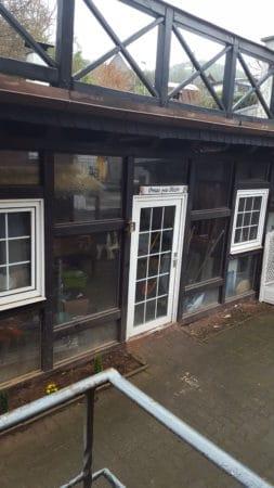 Sprossenfenster und Sprossentuer