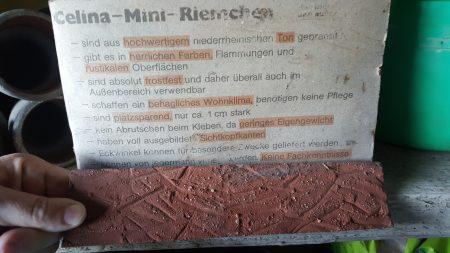 Celina-Mini Riemchen,Klinker/Verblender ca. 3 qm