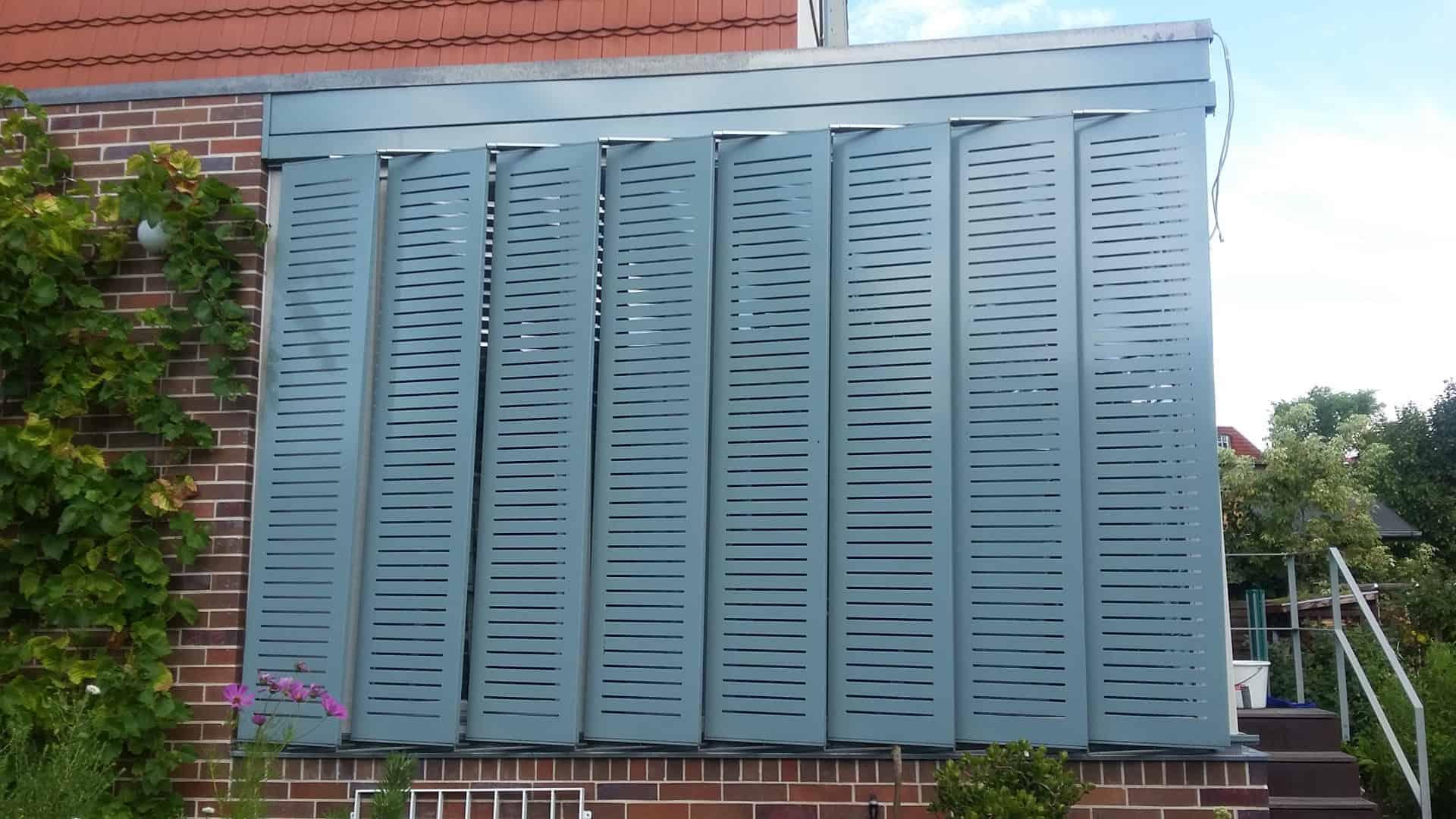 Fensterläden Faltladen Metall