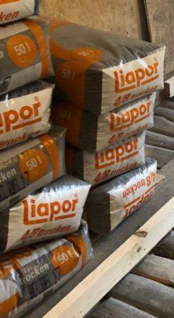 Trockenschüttung Liapor 4-8 mm – 21x 50L Säcke