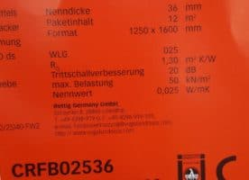PUR Faltplatte 36mm
