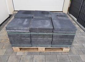 Betonplatten 40x40x4cm mit Fase Anthrazit