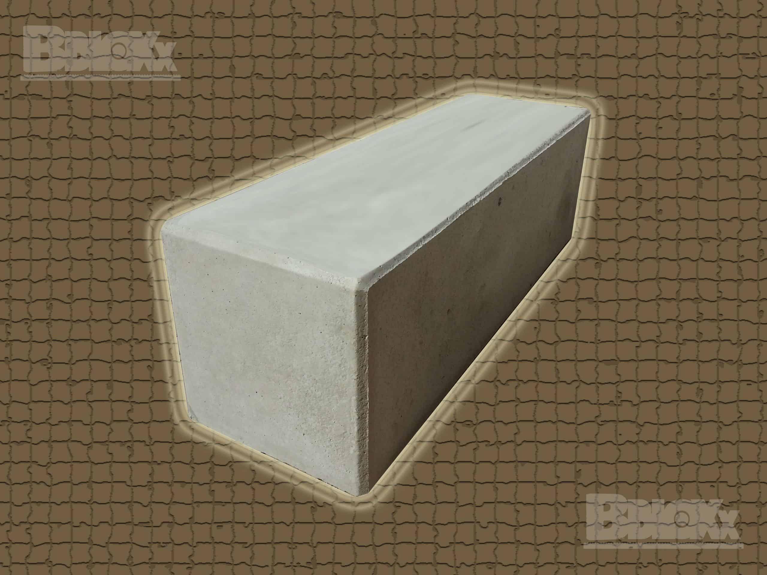 BBloxx-Schnellbaustein | 1.800 x 600 x 600 mm | Beton-Legostein, Betonblock, Beton-Stapelstein