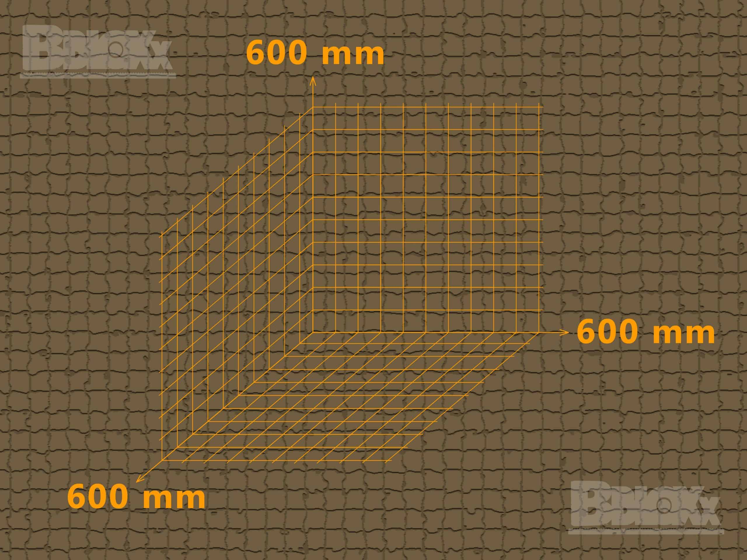 BBloxx-Schnellbaustein | 600 x 600 x 600 mm | Beton-Legostein, Betonblock, Beton-Stapelstein