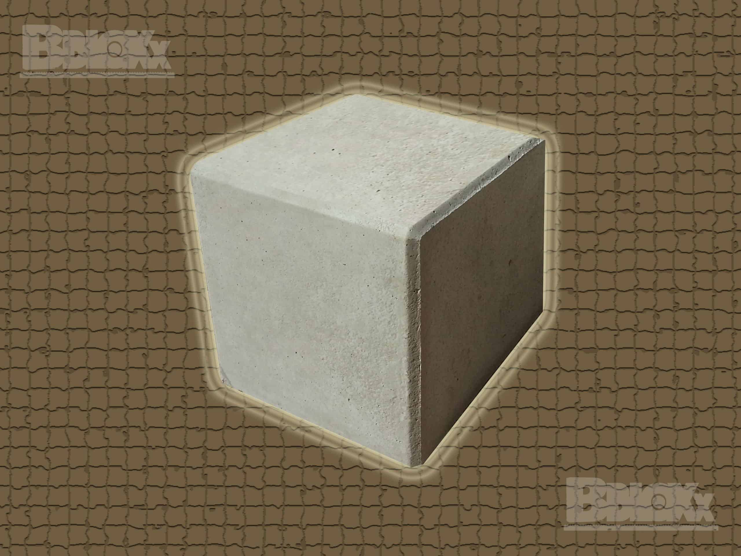 BBloxx-Schnellbaustein | 800 x 800 x 800 mm | Beton-Legostein, Betonblock, Beton-Stapelstein