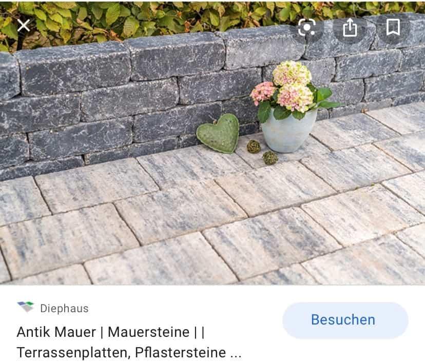 Trockenmauer Beton Diephaus Antik basalt gerumpelt