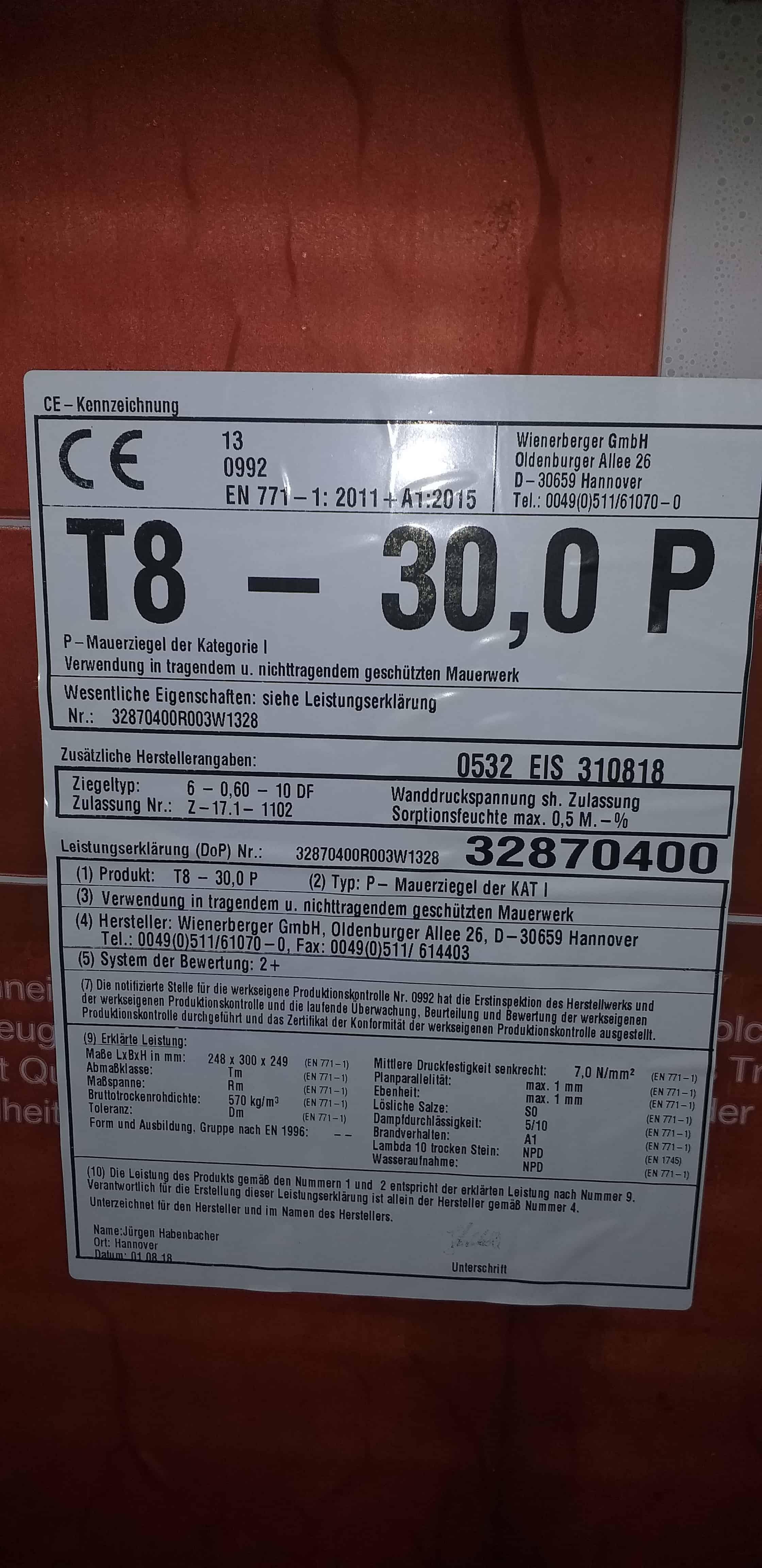 Wienerberger T8 30 P