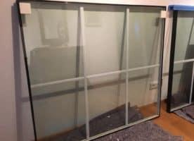 3fach verglaste Fensterscheiben mit Sprossen