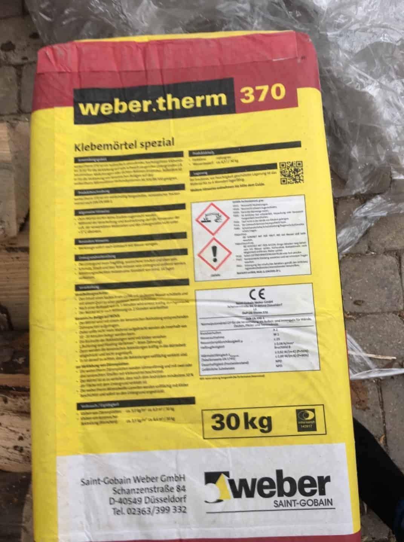 Spezialmörtel therm 370. 5x30 kg