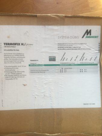Systemdübel Marmorit Termofix H 230 mm – schraubdübel für Holz