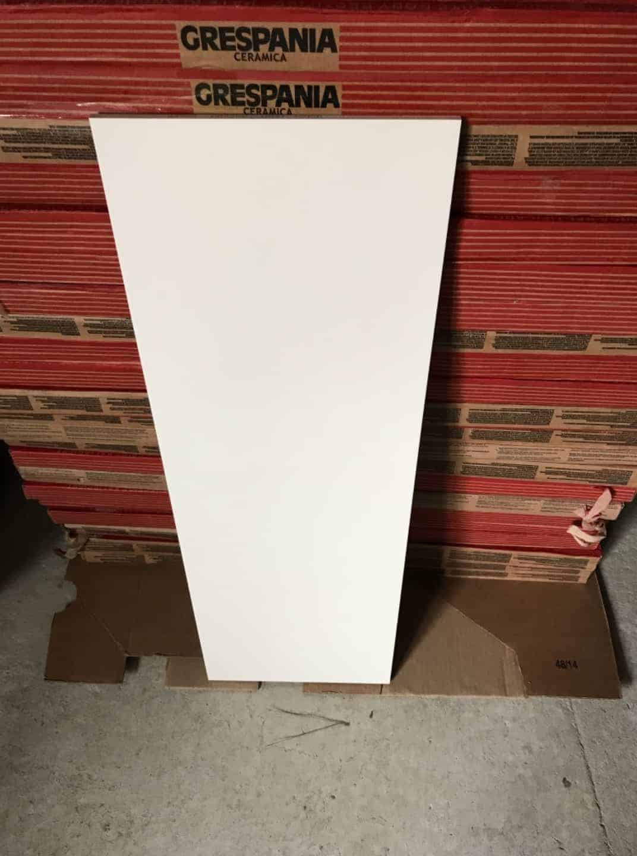 Grespania Keramik Fliesen 30x90 weiß