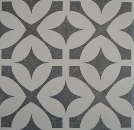 Bodenfliesen Fliesen Classic Muster Schwarz 20×20 9,5mm