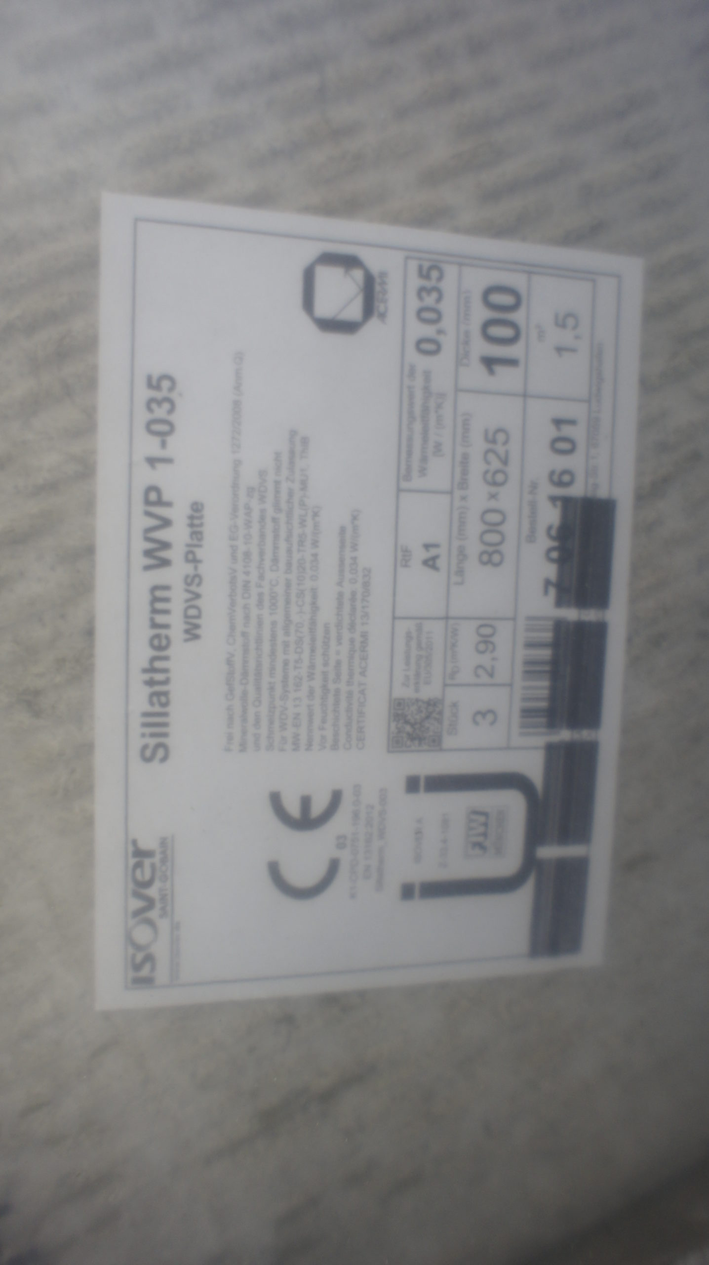 ISOVER Sillatherm WVP 1-035