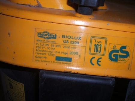 Gartenhäcksler Fleurelle Biolux GS 2200 – Holzschredder