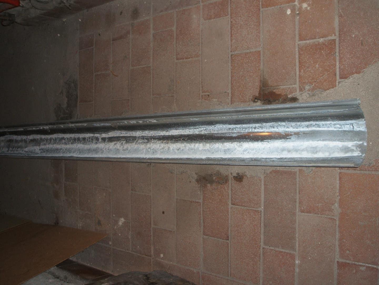Zink-Dachrinnen, 400er, 19cm Durchmesser, 3m-Stücke