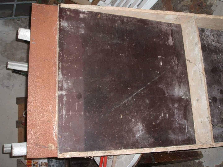 Holzrampe flach,  Höhe 20cm, Breite 80cm, Länge 136,5cm