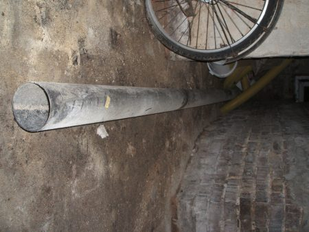 Abflußrohr schwarz, , Plastik, 5m lang, Durchmesser 11cm