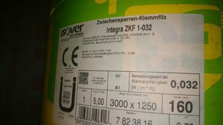 Isover Integra ZKF1 032 160 mm Stärke