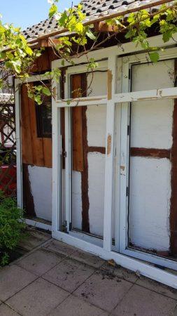 Fenster, terrassenfalttür