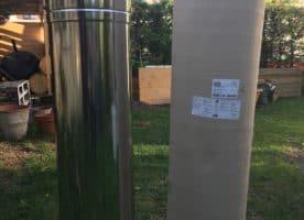 Kaminrohr Rauchrohr Edelstahl 200 Längenelement DW 13200 gedämmt