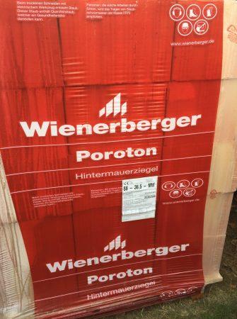 3 Paletten Wienerberger S8 36,5 MW Mauerziegel Ziegel Ziegelstein