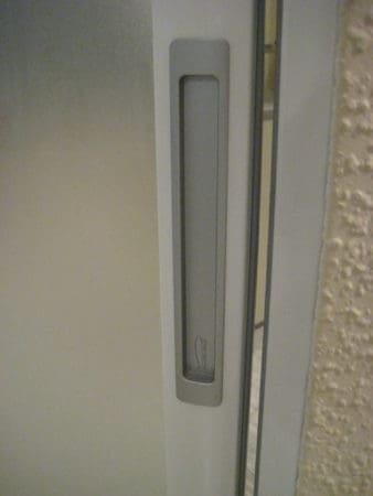 Schiebetüranlage 2-teilig Advantage weiß mit Glasfüllung