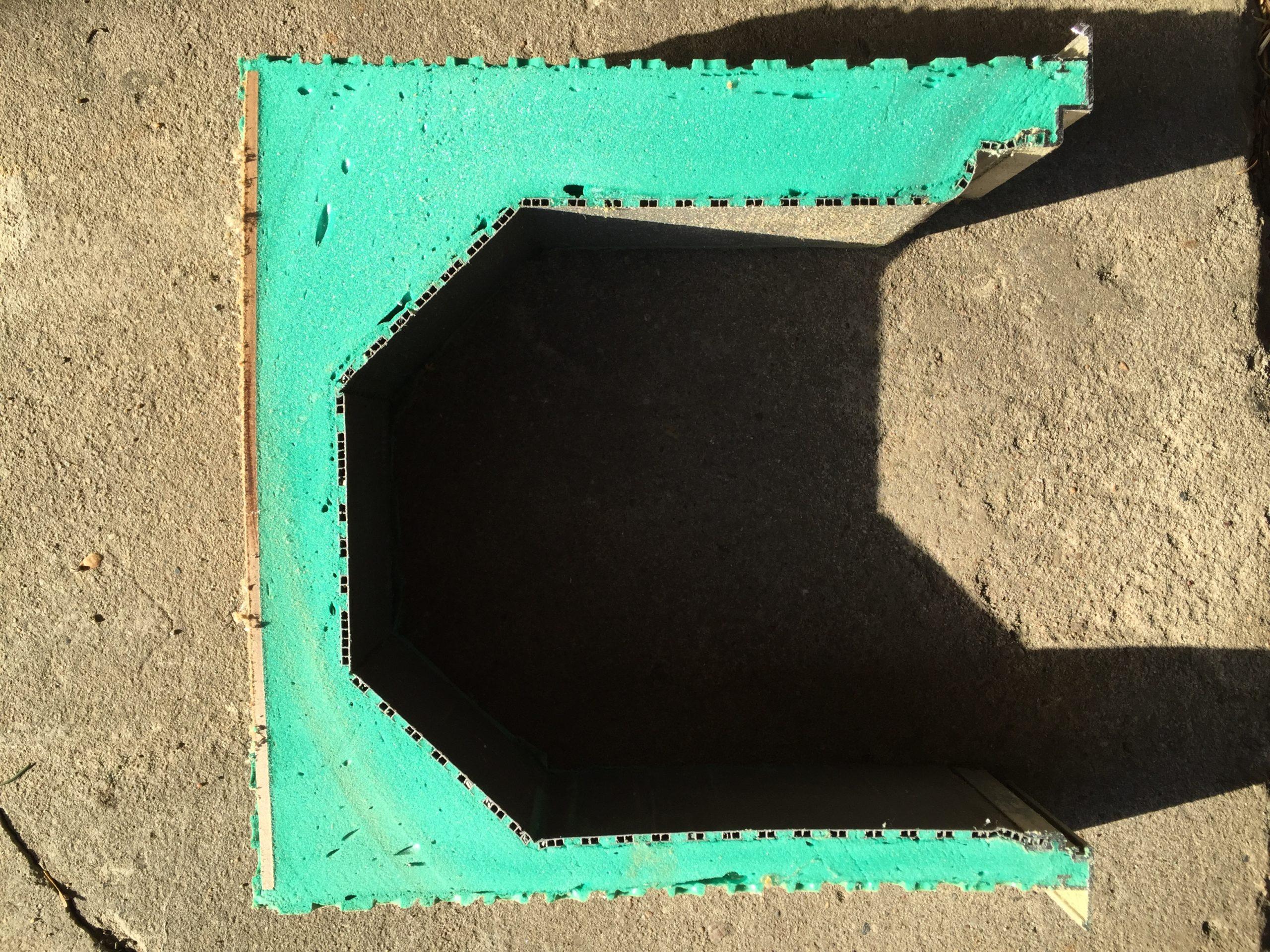 Rollladenkasten aus PUR-Schaum