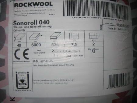 Rockwool Sonoroll 040