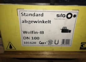 Sita Trendy Dachgully senk.100 PUR Wolfinflansch abgewinkelt