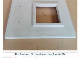 Kamin – Abdeckplatte – Außenmaß 740/580 mm mit Aussparung 275/275 mm