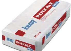 Knauf Rotkalk Fein 0,6mm Unterputz & -Oberputz für Innen u. Außen