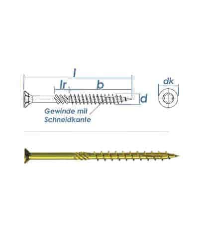 Konstruktionsschrauben 8 x 300 mm, Holzbauschrauben - Senkkopf TX40