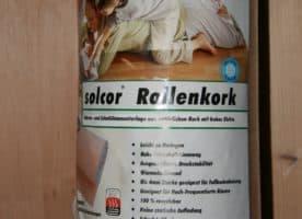 Parkettunterlage aus Kork, Rolle mit 10 qm