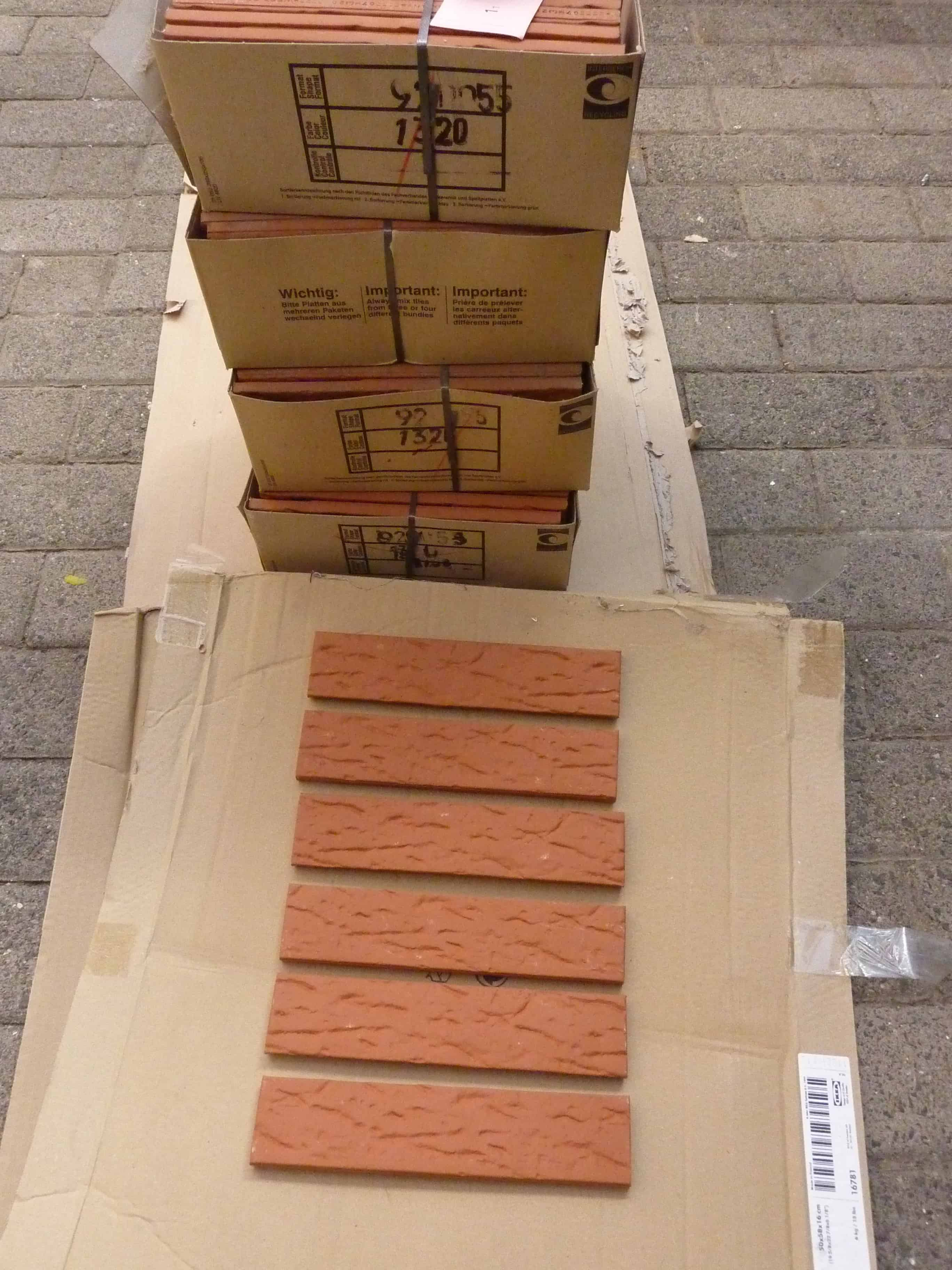 sockelriemchen / spaltplatten / eckschenkel (ca. 35 m²) günstig