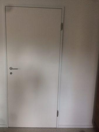 Zimmertür Lack weiß in Stahlumfassungszarge, DIN links, gebraucht