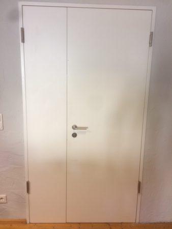 Zimmertür Lack weiß, Stahlumfassungszarge,Doppelflügel,gebraucht