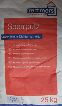 Remmers Sperrputz 30€/Sack