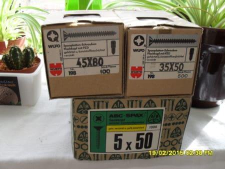 ca. 100 Päckchen, Spax / Schrauben-Posten f Schreiner,Bauern,Hallenbauer