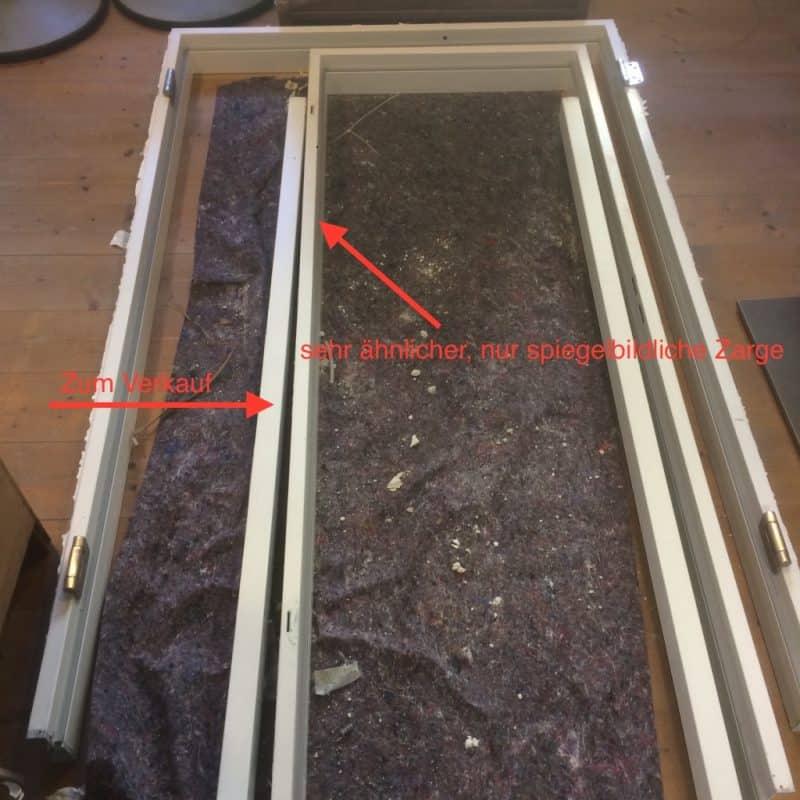 Zimmertür Glas in Stahlumfassungszarge,DIN rechts, gebraucht