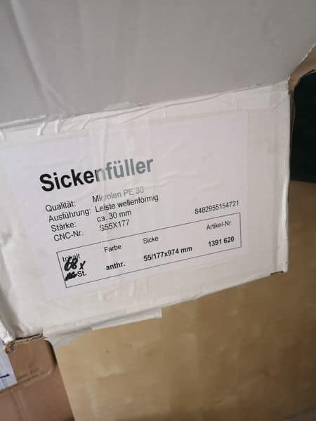 Sickenfüller / Profilfüller 30mm Stärke, 64 Stück