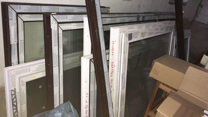 Kunststoff-Fenster Türe für Balkon 3-fach Verglasung  1730 x 2040