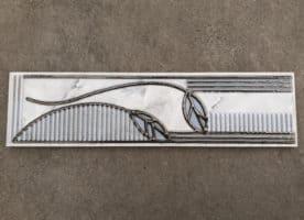 Klassische Bodüre 25 x 6,5 cm mit Floralem Muster sehr Günstig